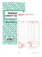 Paragon-Daňový doklad PT 010 - propisující, 80x150 mm, 50 listů