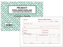 Příjmový pokladní doklad ET 030 - i podvojné účetnictví, A6, 50 listů