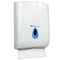 Zásobník na papírové ručníky ZZ Merida Top Maxi - plastový, uzamykatelný, bílý