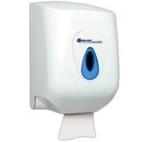 Zásobník na papírové ručníky MAXI Merida Top - středový odvin, plastový, uzamykatelný, bílý