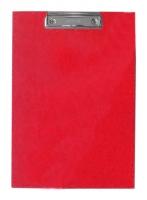 Psací deska s klipem A4 - jednoduchá, PVC, červená