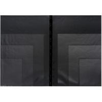 Psací desky s více kapsami - A4, 3 kapsy, plastové, černé