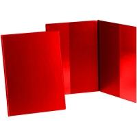 Psací desky s kapsami Sporo - A4, svislé, plastové, červené