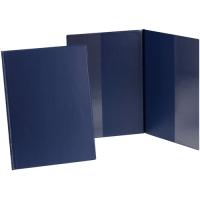 Psací desky s kapsami Sporo - A4, svislé, plastové, modré