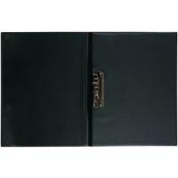 Psací desky s rychlosvorkou - A4, svislá kapsa, plastové, černé
