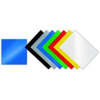 Kartonové desky pro zadní stranu kroužkové vazby Chromo - A4, leštěný povrch, modré, 100 ks