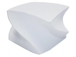 Poznámkový bloček vrtule - lepený, 8x8x5 cm, bílý