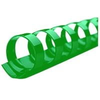 Kroužkový hřbet - 12,5 mm, plastový, zelený, 100 ks