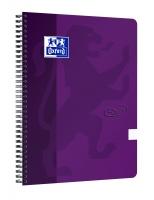 Kroužkový college blok A4+ Oxford Nordic Touch - čistý,  boční spirála, 70 listů, fialový