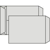 Poštovní taška B4 - křížové dno, bez okénka, krycí páska, 353x250x40 mm, recykl, 250 ks