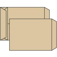 Poštovní taška B4 - křížové dno, bez okénka, krycí páska, 353x250x40 mm, sulfát hnědá, 250 ks