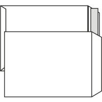 Poštovní taška B4 - bez okénka, krycí páska, 353x250 mm, bílá, 250 ks
