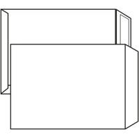Poštovní taška C4 - bez okénka, samolepící, 324x229 mm, bílá, 500 ks