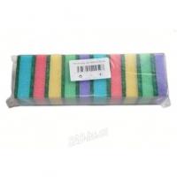 Houbička na nádobí - malá, 8,5x5,5x2,5 cm, mix barev, 10 ks
