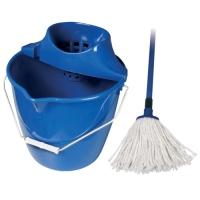 Úklidová souprava - mop s kbelíkem, ždímačem a tyčí