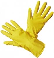 Úklidové rukavice M-8 - gumové-latexové, žluté