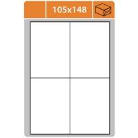 Samolepící etikety - 105x148 mm, bílé, 100 archů