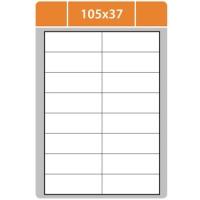 Samolepicí etikety Print - 105x37 mm, papírové, bílé, 100 archů