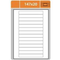 Samolepicí etikety Print - 147x20 mm, papírové, bílé, 100 archů