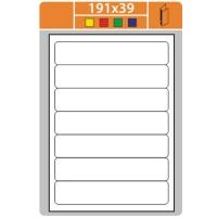 Samolepicí etikety Print - 191x39 mm, papírové, bílé, 100 archů