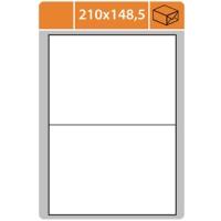Samolepicí etikety Print - 210x148,5 mm, papírové, bílé, 100 archů