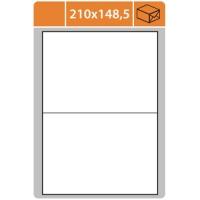 Samolepící etikety - 210x148,5 mm, bílé, 100 archů