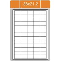 Samolepicí etikety Print - 38x21,2 mm, papírové, bílé, 100 archů