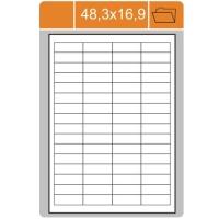 Samolepicí etikety Print - 48,3x16,9 mm, papírové, bílé, 100 archů