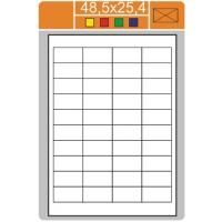 Samolepicí etikety Print - 48,5x25,4 mm, papírové, bílé, 100 archů