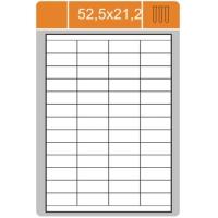 Samolepicí etikety Print - 52,5x21,2 mm, papírové, bílé, 100 archů