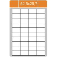 Samolepicí etikety Print - 52,5x29,7 mm, papírové, bílé, 100 archů