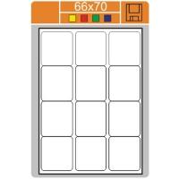 Samolepicí etikety Print - 66x70 mm, papírové, bílé, 100 archů