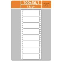 Tabelační etikety (EVP) - 100x36,1 mm, jednořadé, bílé, velké balení, 500 archů