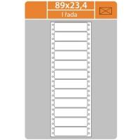 Tabelační etikety (EVP) - 89x23,4 mm, jednořadé, bílé, velké balení, 500 archů