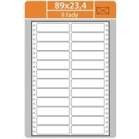 Tabelační etikety (EVP) - 89x23,4 mm, dvouřadé, bílé, malé balení, 25 archů