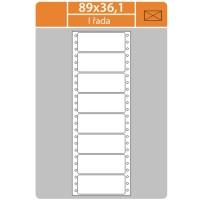 Tabelační etikety (EVP) - 89x36,1 mm, jednořadé, bílé, malé balení, 25 archů