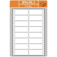 Tabelační etikety (EVP) - 89x36,1 mm, dvouřadé, bílé, malé balení, 25 archů