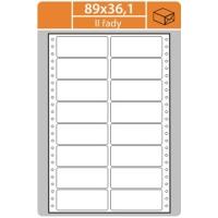 Tabelační etikety (EVP) - 89x36,1 mm, dvouřadé, bílé, velké balení, 500 archů