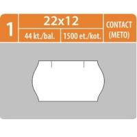 Značkovací etikety do etiketovacích kleští (EZ) - CONTACT (METTO), 22x12 mm, bílé, 1500 etiket