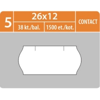 Značkovací etikety do etiketovacích kleští (EZ) - CONTACT, 26x12 mm, bílé, 1500 etiket