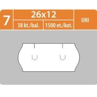 Značkovací etikety do etiketovacích kleští (EZ) - UNI, 26x12 mm, bílé, 1500 etiket