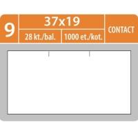 Značkovací etikety do etiketovacích kleští (EZ) - CONTACT, 37x19 mm, bílé, 1000 etiket