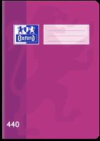 Školní sešit 440 Oxford - A4, čistý, 40 listů, fialový