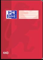 Školní sešit 440 Oxford - A4, čistý, 40 listů, červený