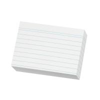 Karty do kartotéky A5 - linkované, bílé, 100 listů