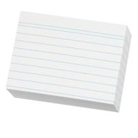 Karty do kartotéky A8 - linkované, bílé, 200 listů