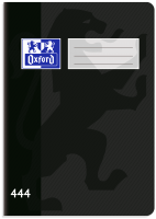 Školní sešit 444 Oxford - A4, linkovaný, 40 listů, černý