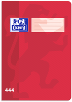 Školní sešit 444 Oxford - A4, linkovaný, 40 listů, červený