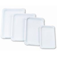 Papírové tácky Classic č.5 - 16x23 cm, bílé, 250 ks