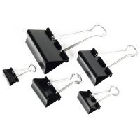 Kancelářský binder klip - 19 mm, černý, 12 ks